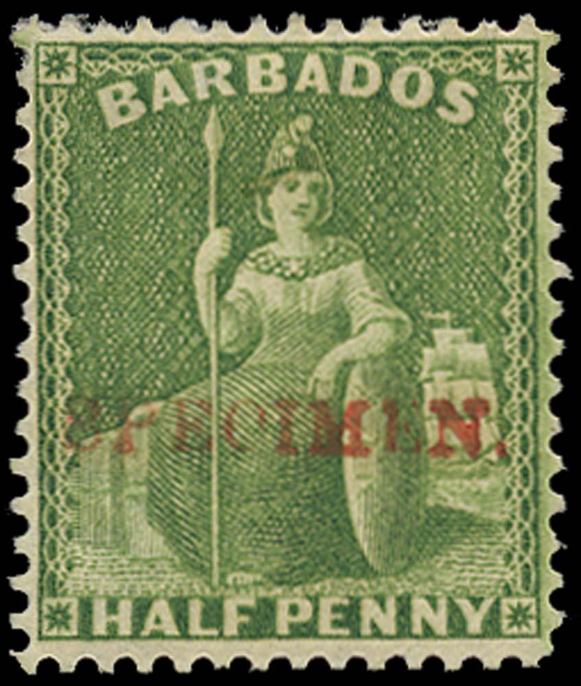 BARBADOS 1875  SG72s Specimen