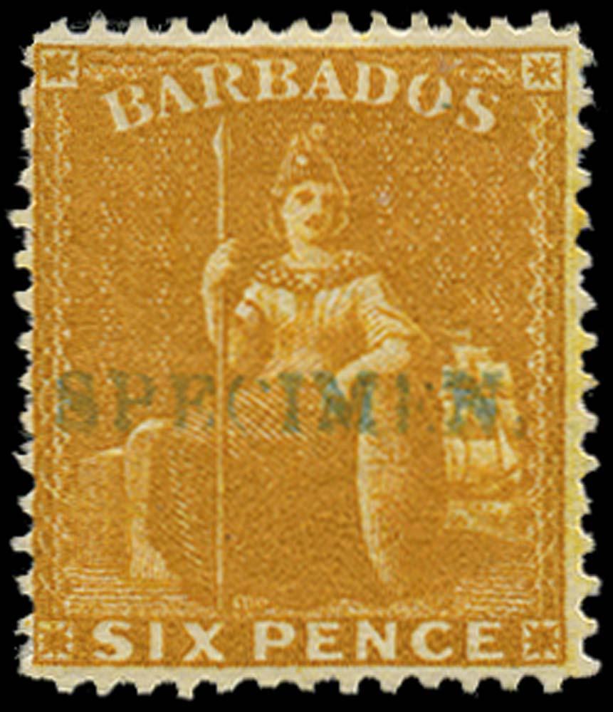 BARBADOS 1875  SG79s Specimen