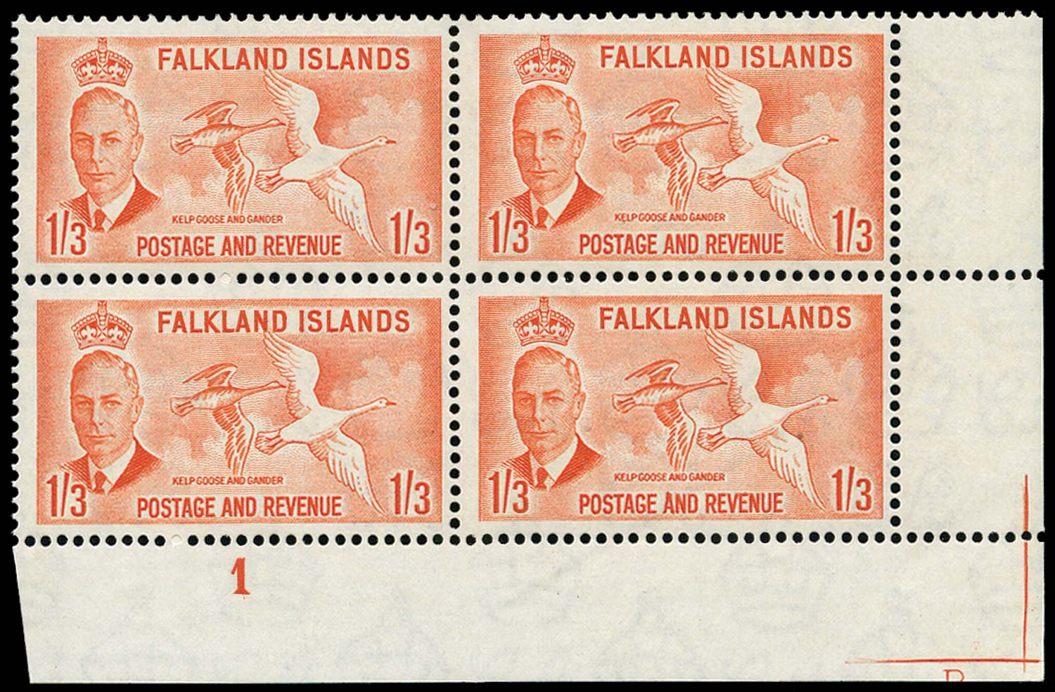FALKLAND ISLANDS 1952  SG181 Mint