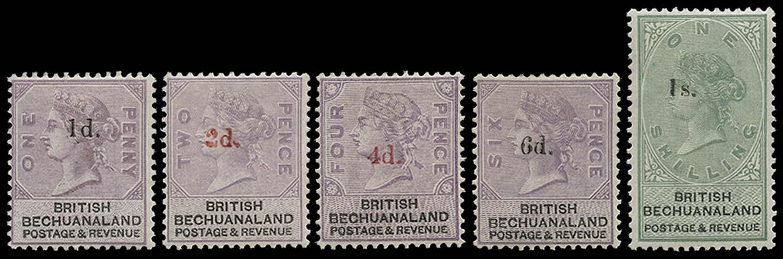 BECHUANALAND 1888  SG22/28 Mint