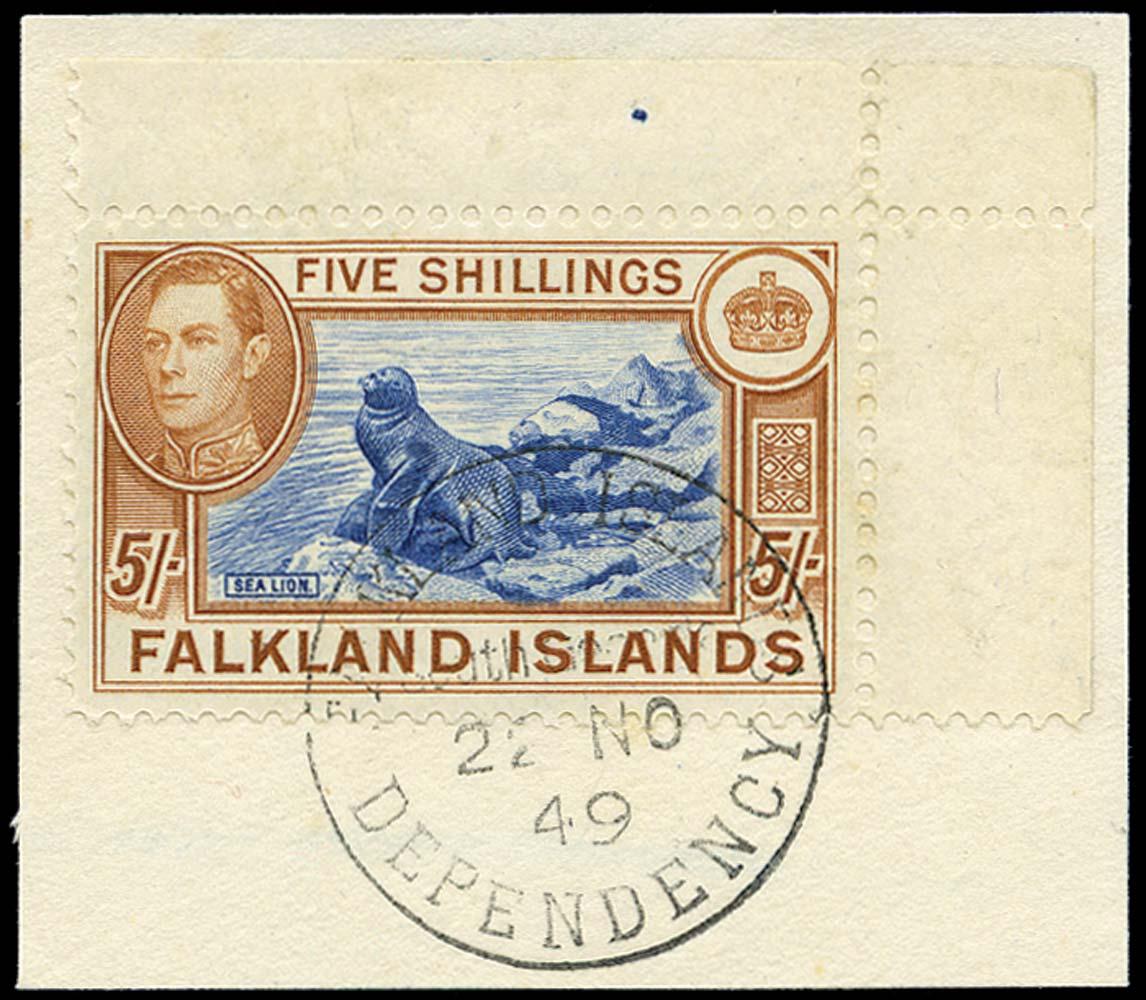 FALKLAND ISLAND DEPS 1944  SGZ86b Used
