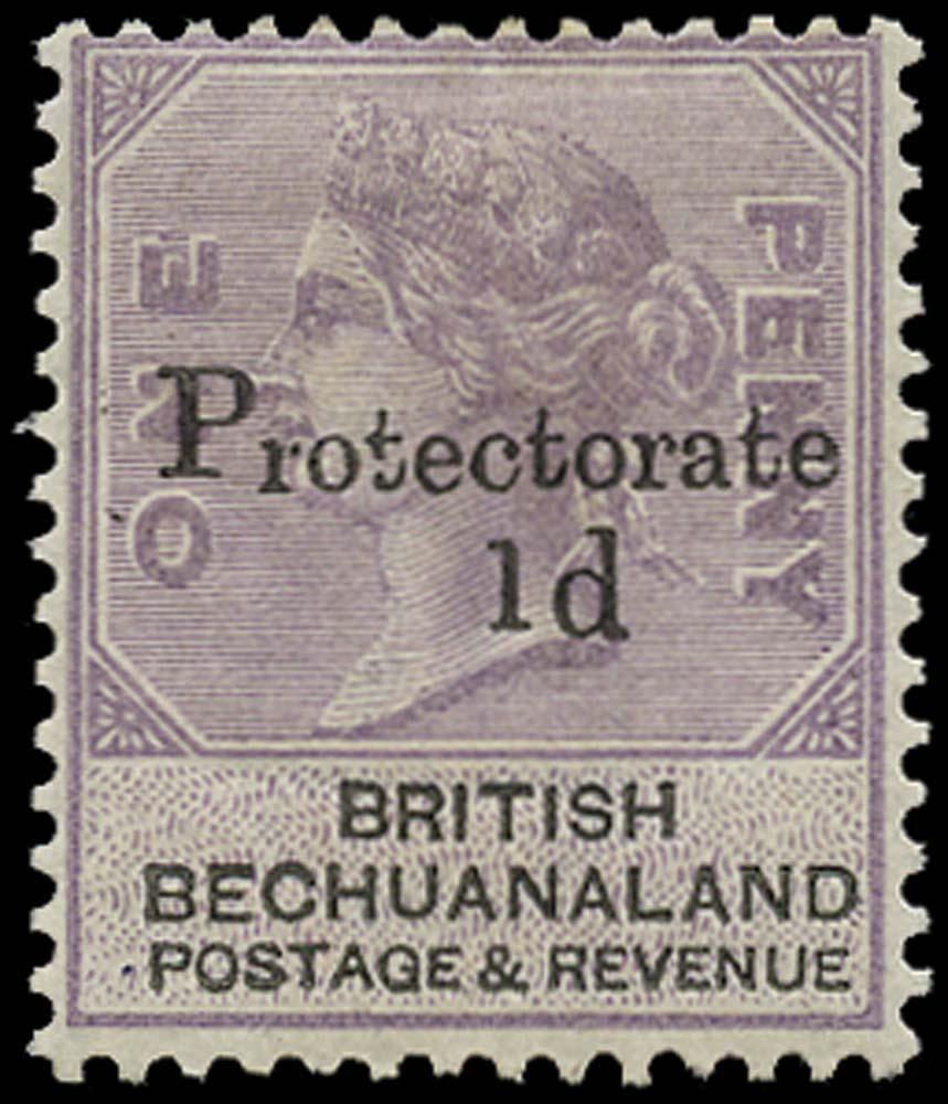 BECHUANALAND 1888  SG41a Mint 1d on 1d Small figure 1