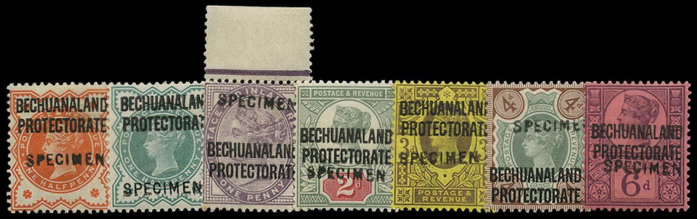 BECHUANALAND 1897  SG59/65 Specimen