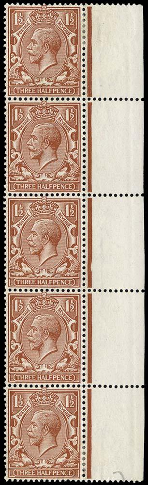 GB 1912  SG362var Mint