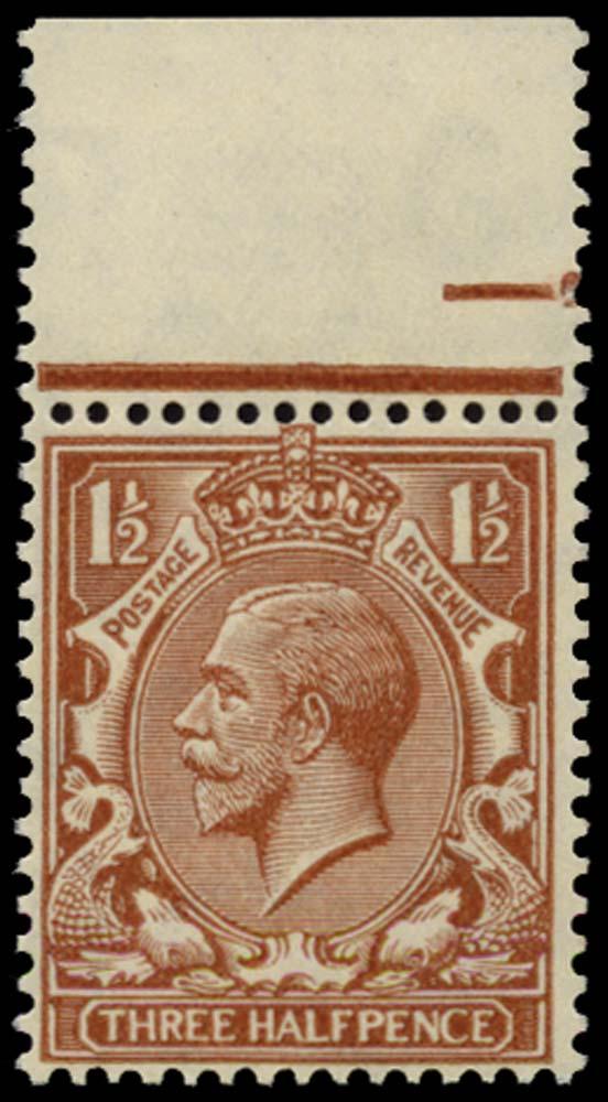 GB 1924  SG420g Mint Experimental paper, Wmk 111a