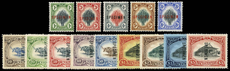 MALAYA - KEDAH 1912  SG1s/14s Specimen