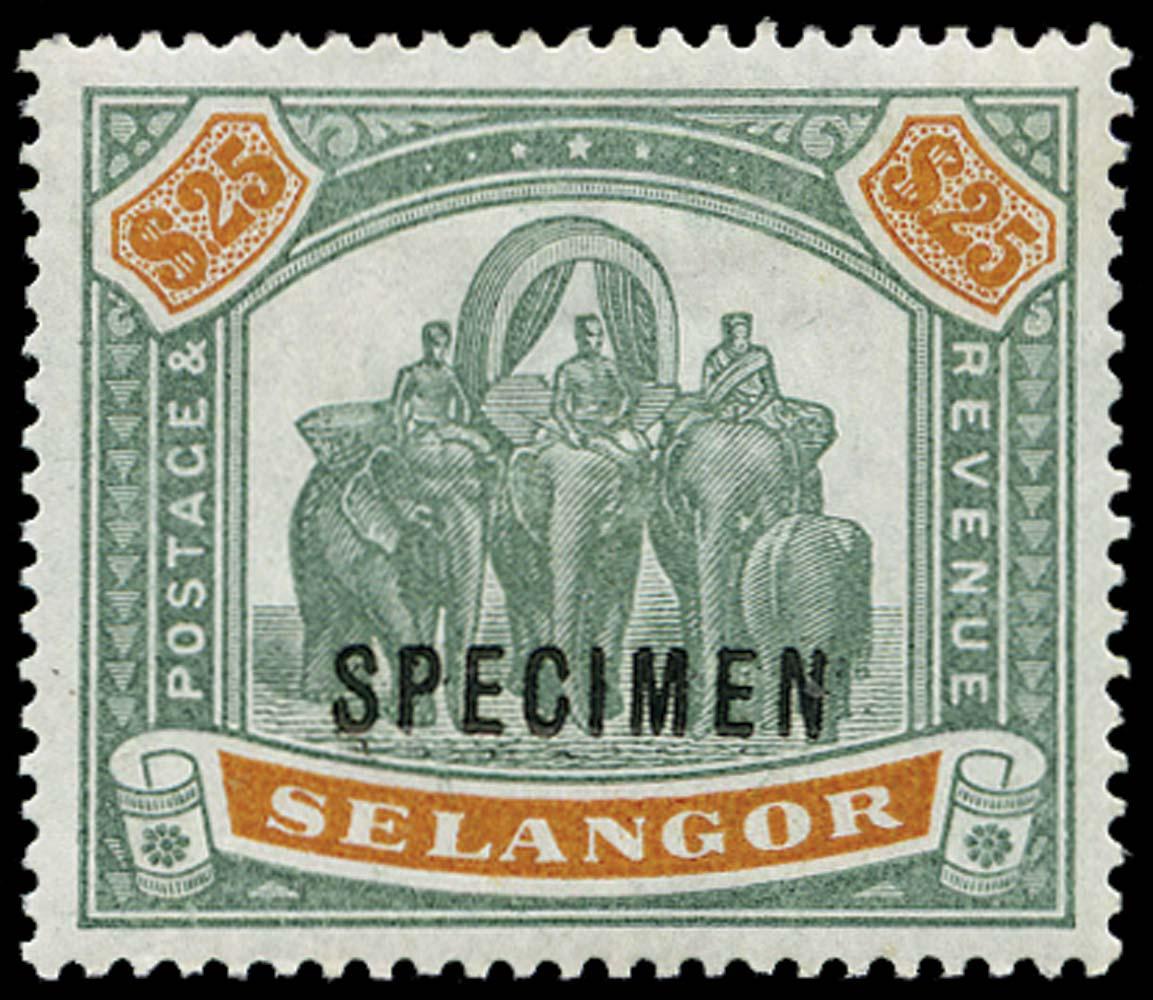 MALAYA - SELANGOR 1895  SG66s Specimen