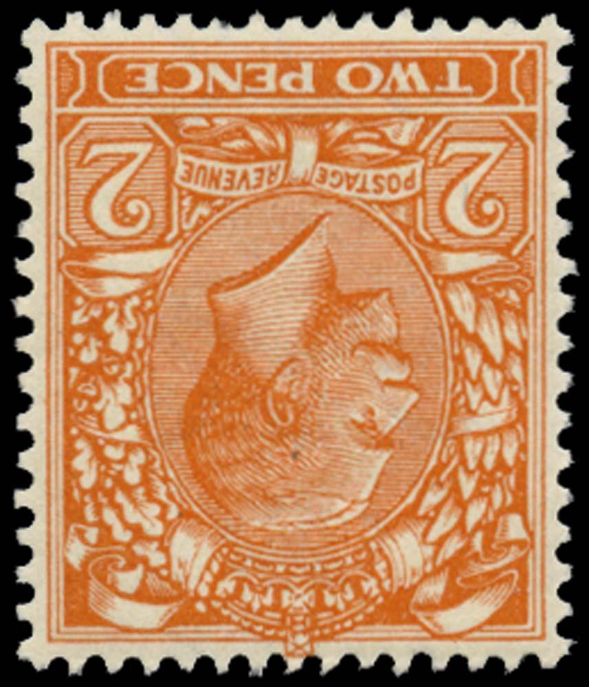 GB 1921  SG370wk Mint watermark inverted & Rev, m/m o.g.