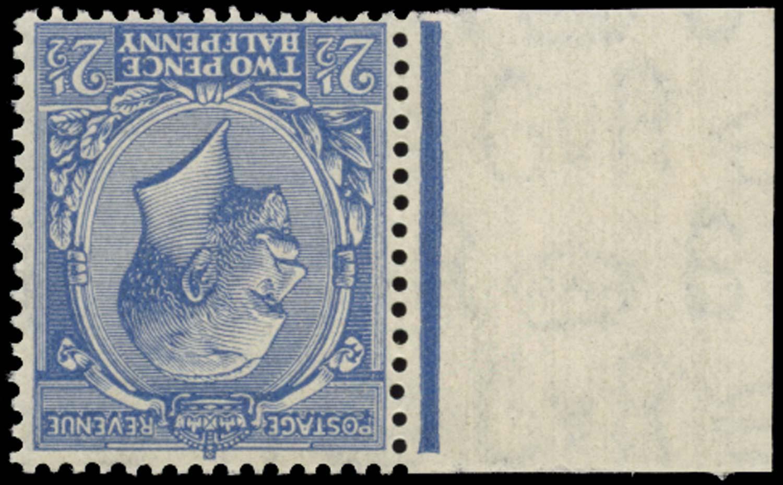 GB 1924  SG422wi Mint Pale Blue Wmk inverted