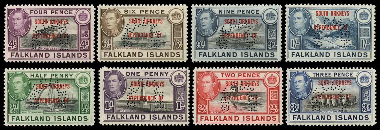 FALKLAND ISLAND DEPS 1944  SGC1s/8s Specimen