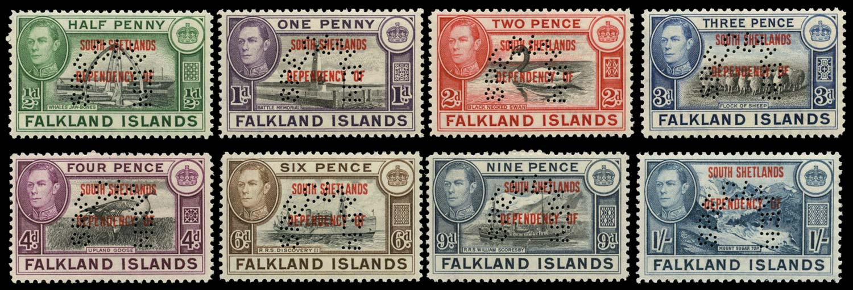 FALKLAND ISLAND DEPS 1944  SGD1s/8s Specimen