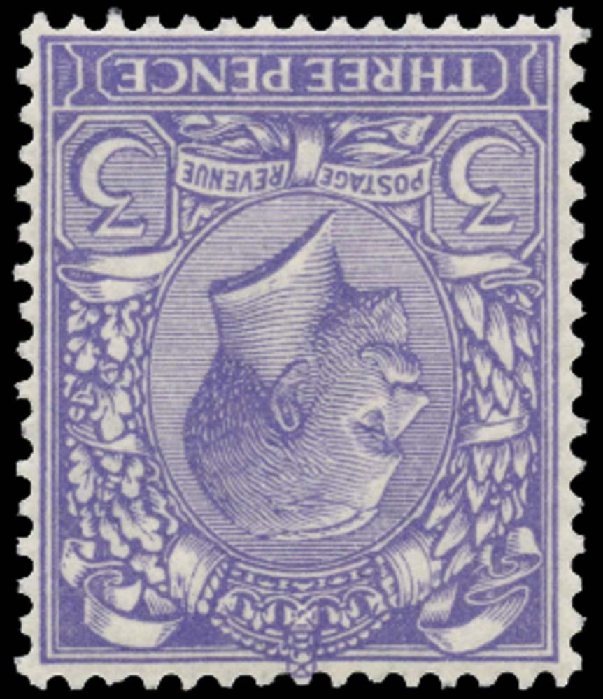 GB 1913  SG376wi Mint Wmk Inv M/M