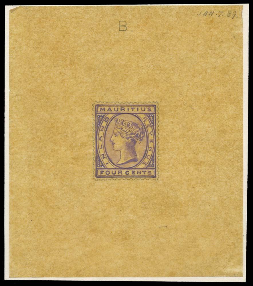 MAURITIUS 1889  SG93 var Essay