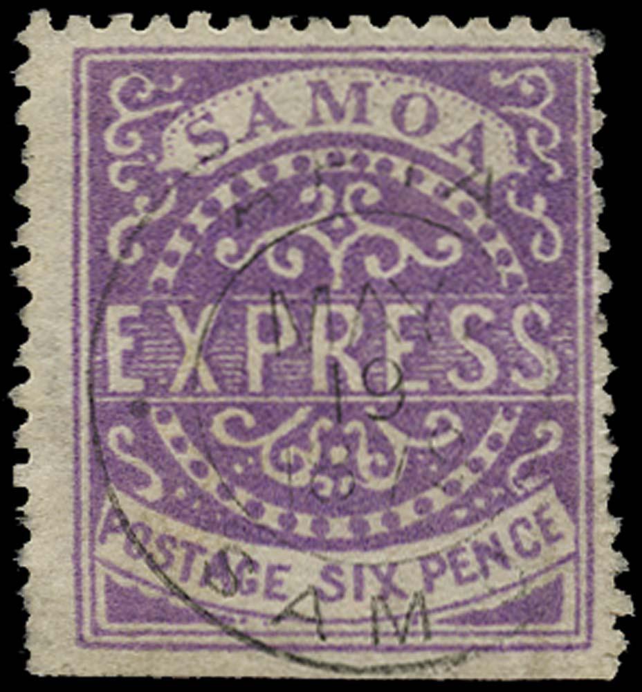 SAMOA 1877  SG6 Used