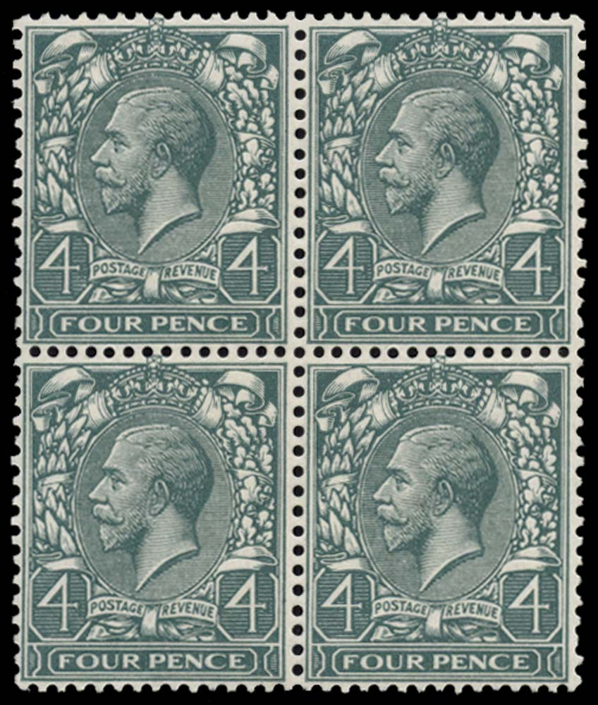 GB 1913  SG379var Mint Watermark double, one Inv & Rev