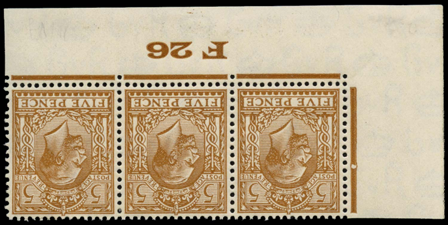 GB 1926  SG425wi Mint watermark inverted F26 Control