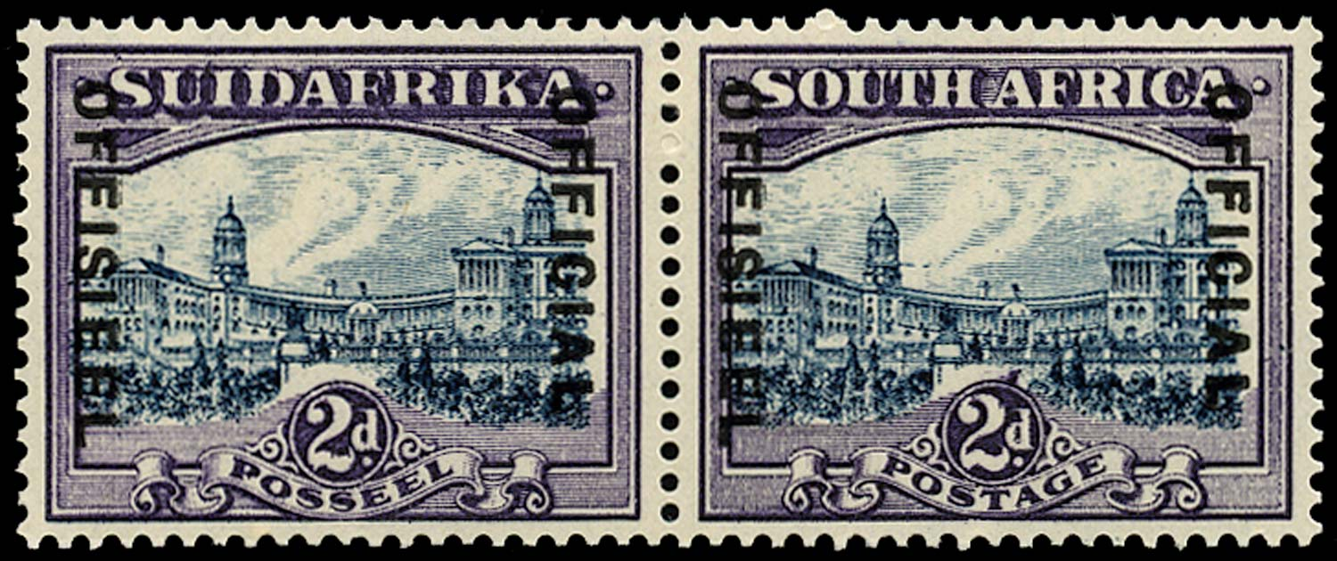 SOUTH AFRICA 1938  SGO15 Official 2d flagstaff and projection from circle