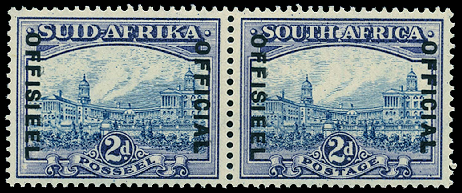 SOUTH AFRICA 1939  SGO23 Official 2d blue and violet unmounted