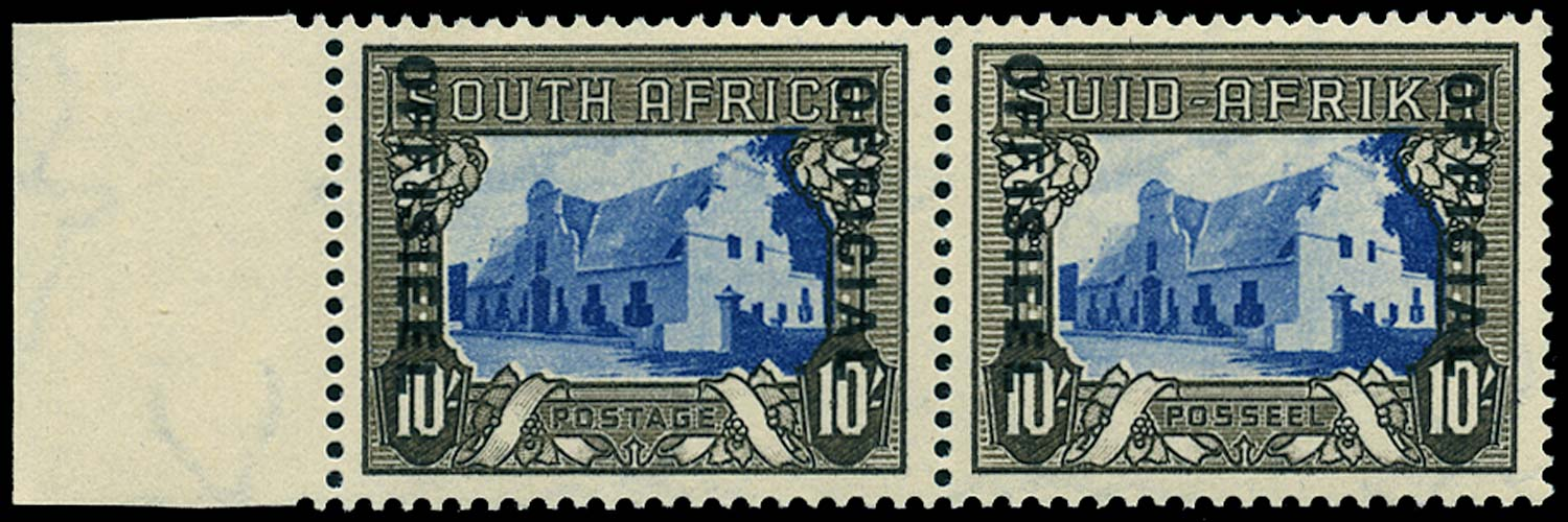 SOUTH AFRICA 1948  SGO27 Official 10s blue and blackish brown unmounted
