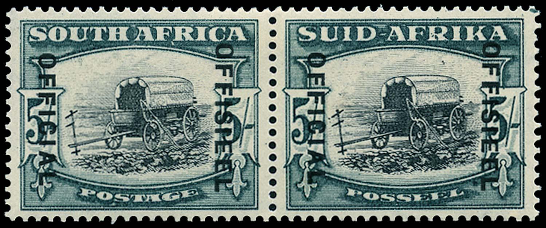 SOUTH AFRICA 1940  SGO28a Official 5s variety Broken yoke-pin