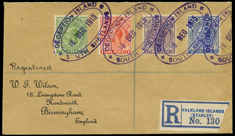 FALKLAND ISLAND DEPS 1915  SGZ110/13 Cover