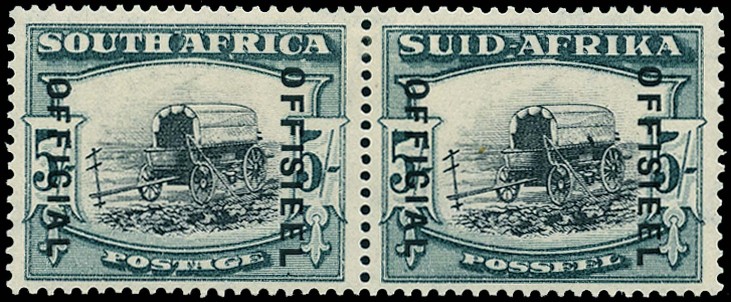 SOUTH AFRICA 1940  SGO28 Official 5s black and blue-green type O3 overprint