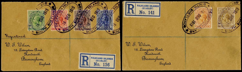 FALKLAND ISLAND DEPS 1915  SGZ110/15 Cover
