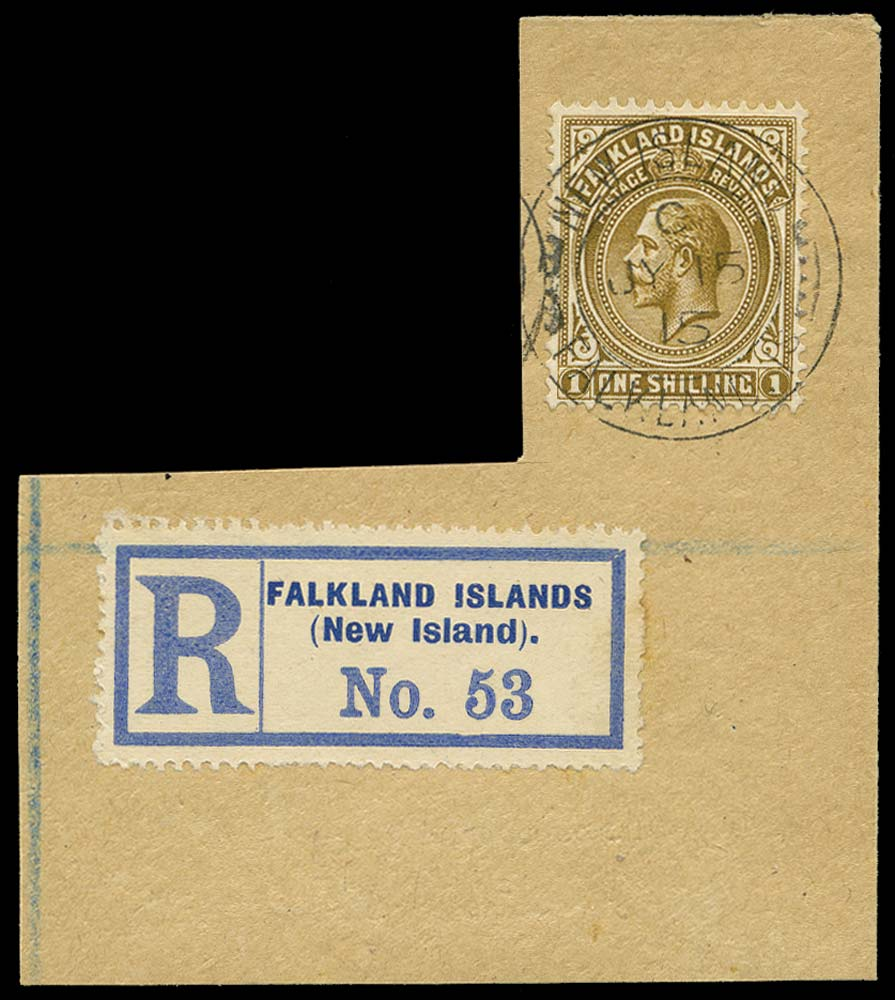 FALKLAND ISLANDS 1912  SG65 Cancel 1s used in New Island