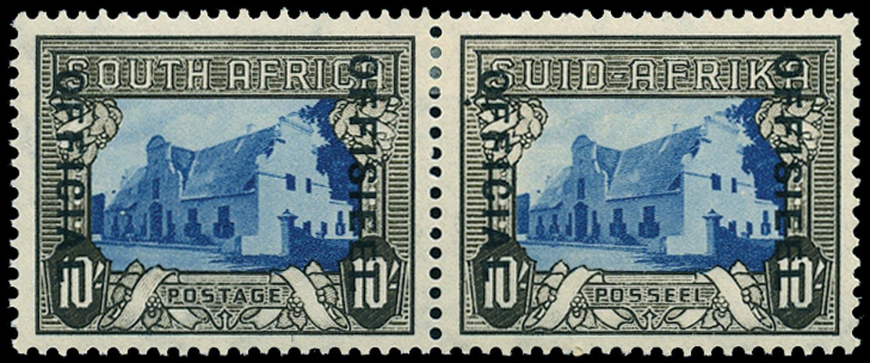 SOUTH AFRICA 1940  SGO29 Official 10s blue and sepia type O3 overprint