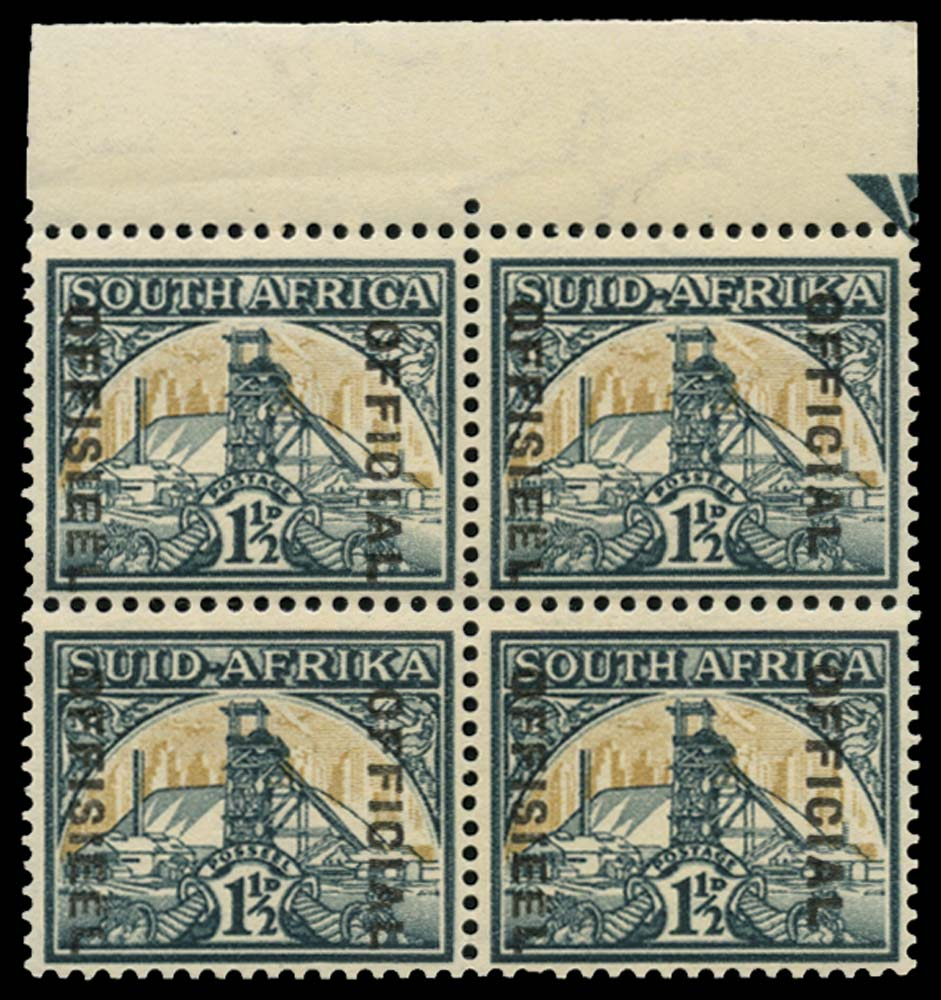 SOUTH AFRICA 1937  SGO33a Official