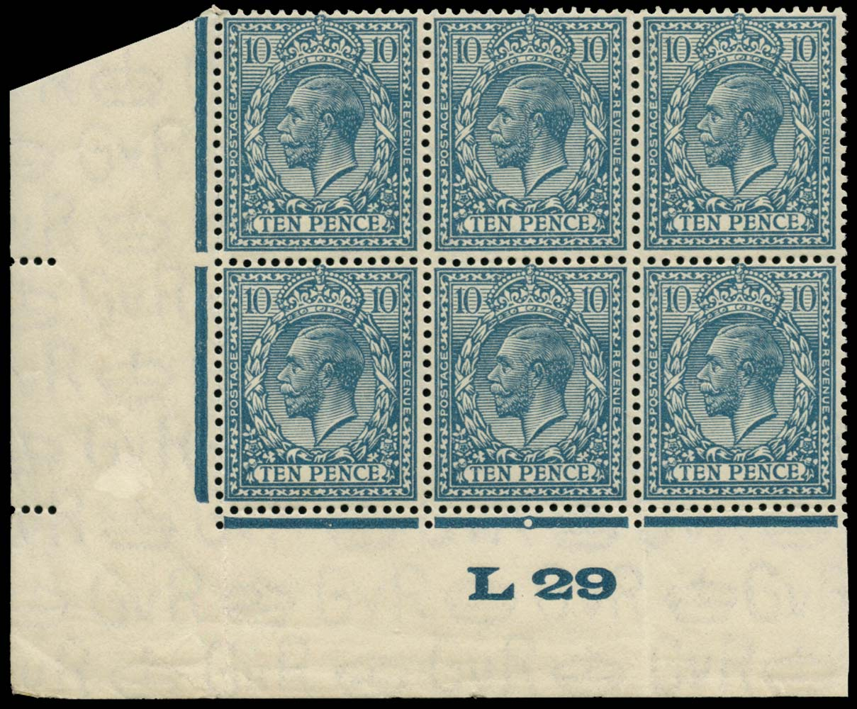 GB 1924  SG428var Mint U/M control L29 example