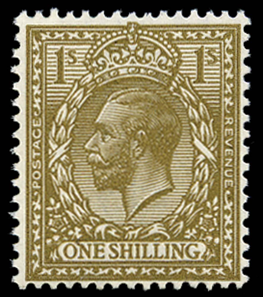 GB 1920  SG396var Mint Deep bronze-brown M/M example