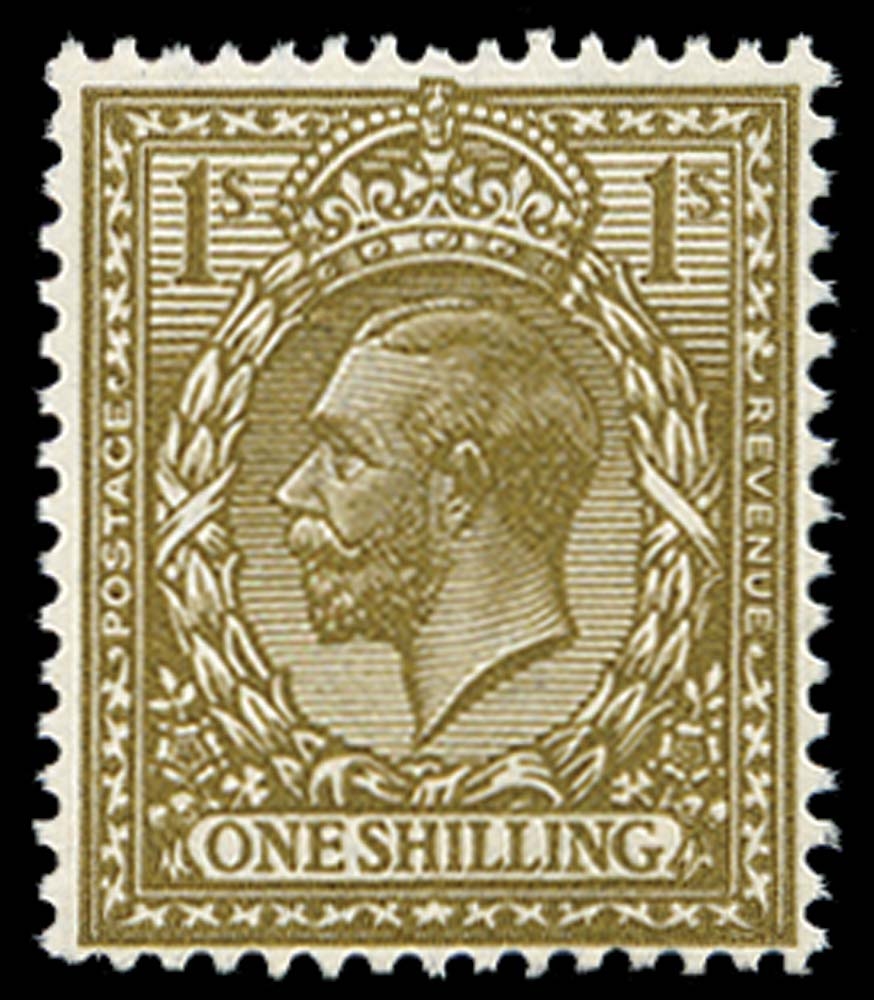 GB 1920  SG396var Mint Deep bronze-brown M/M example