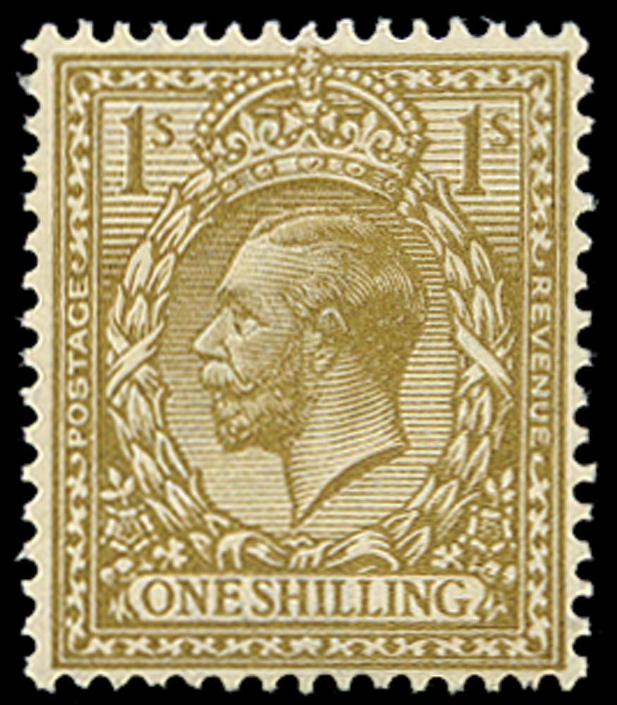 GB 1920  SG396var Mint Yellow-brown M/M example, Dandy roll flaw