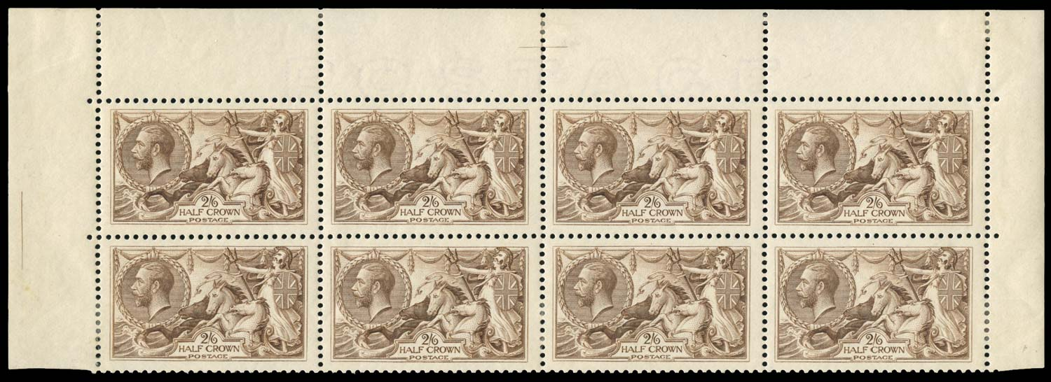 GB 1918  SG414 Mint block of eight