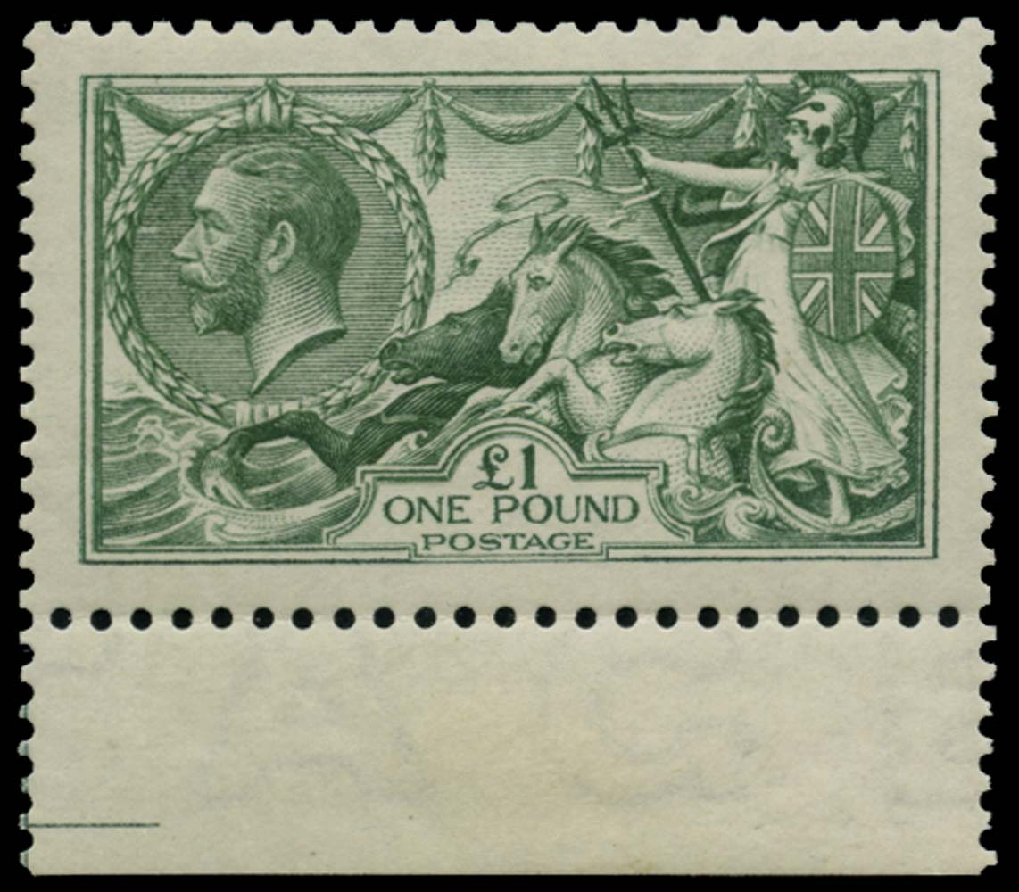 GB 1913  SG403 Mint £1 Green M/M example