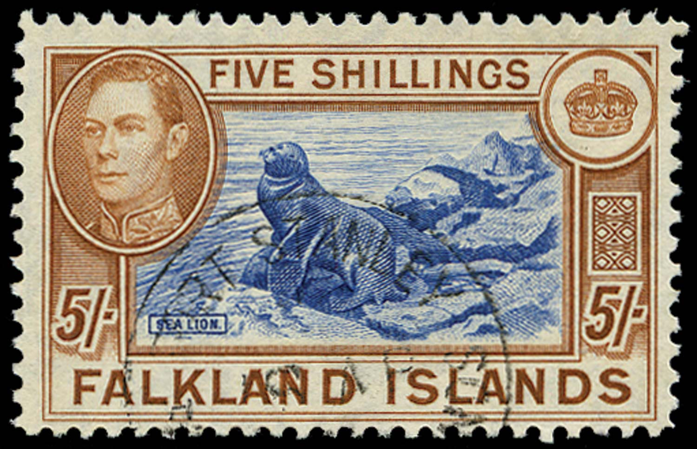FALKLAND ISLANDS 1949  SG161d Used