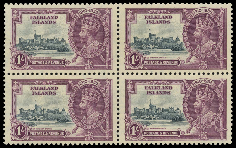 FALKLAND ISLANDS 1935  SG142a Mint 1s Extra flagstaff