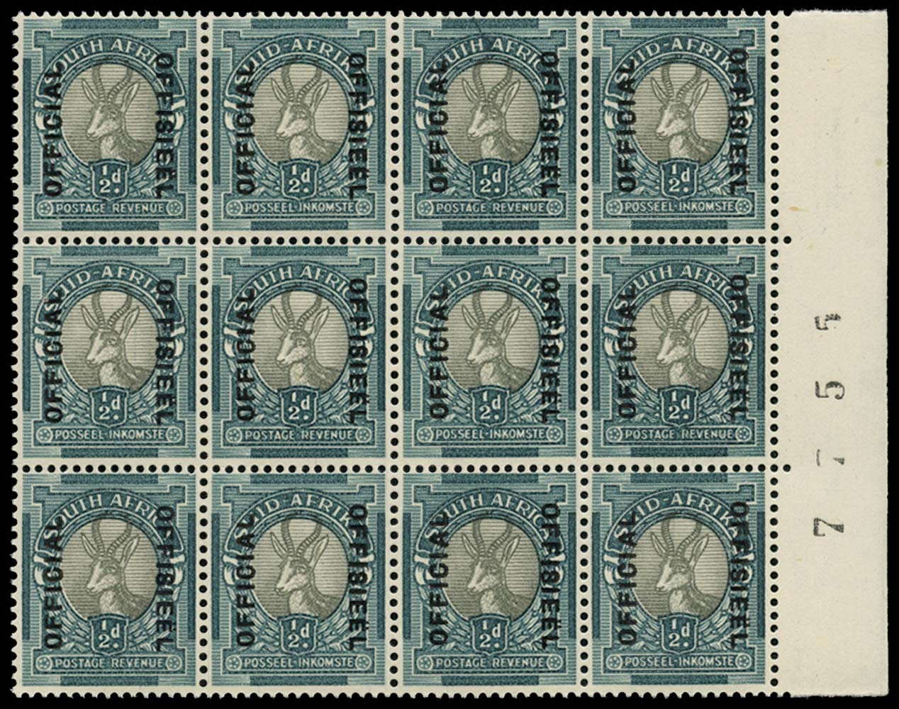 SOUTH AFRICA 1937  SGO32 Official