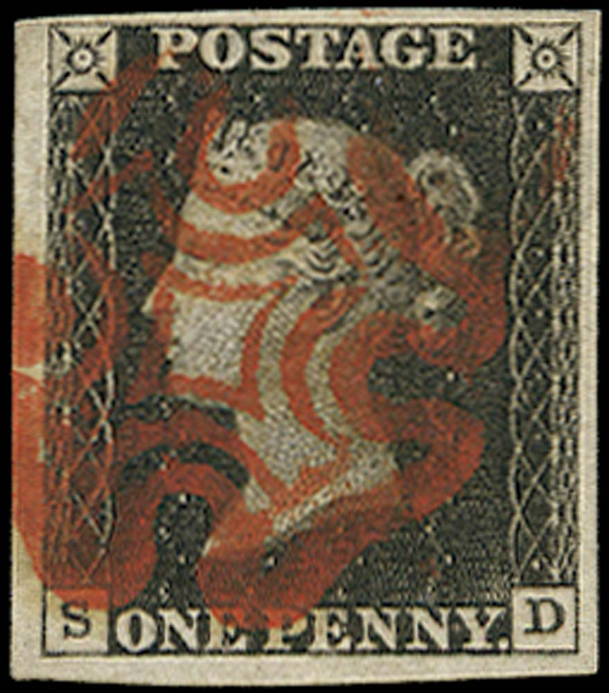 GB 1840  SG3 Pl.1a Penny Black