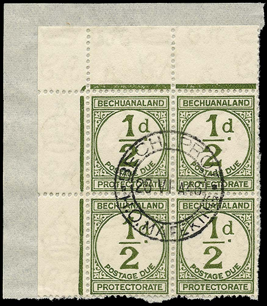 BECHUANALAND 1944  SGD4 Postage Due