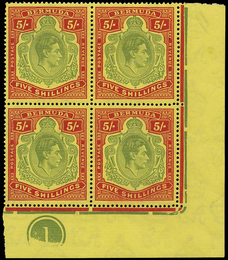 BERMUDA 1944  SG118e Mint