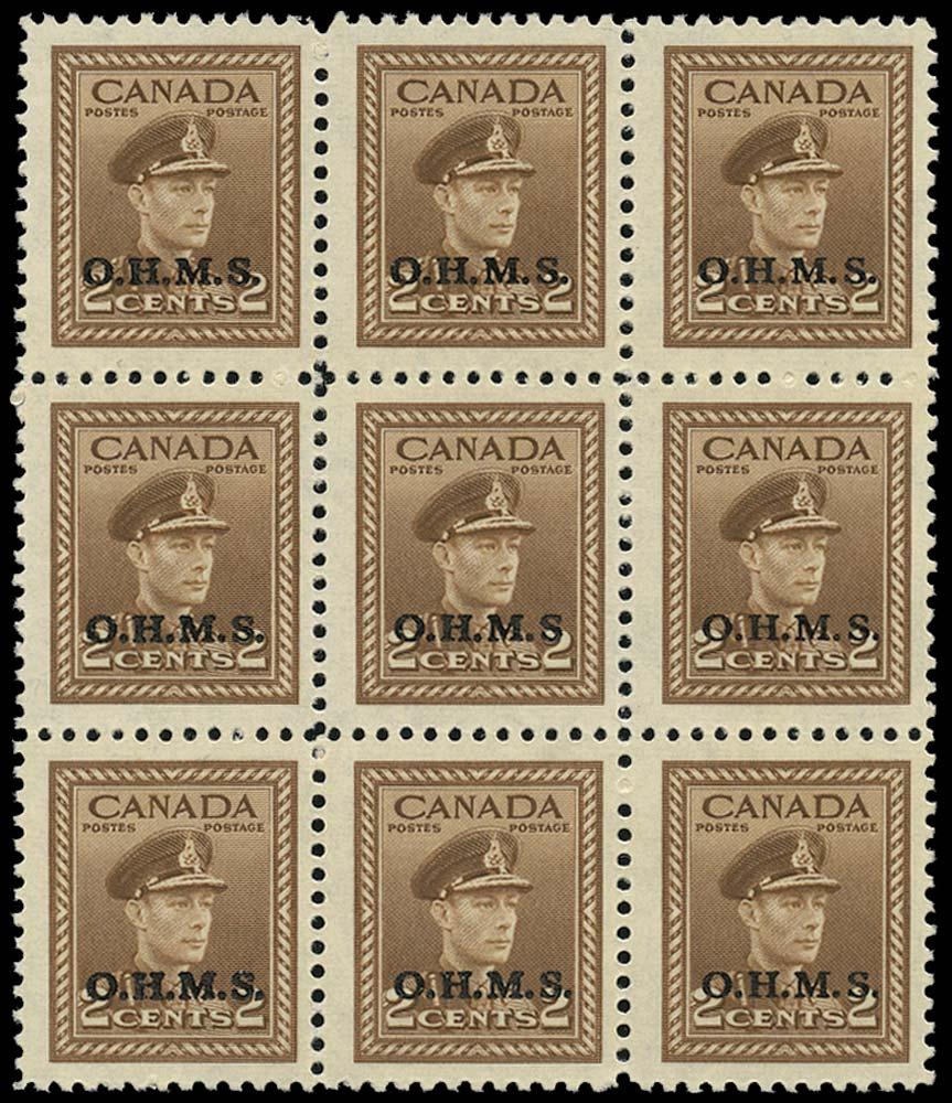 CANADA 1949  SGO163/a Official