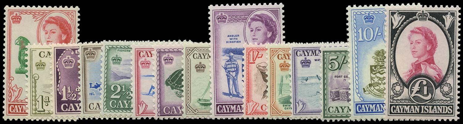 CAYMAN ISLANDS 1962  SG165/79 Mint