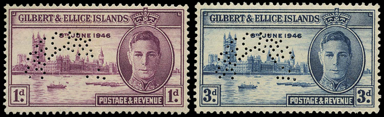 GILBERT & ELLICE IS 1946  SG55s/56s Specimen