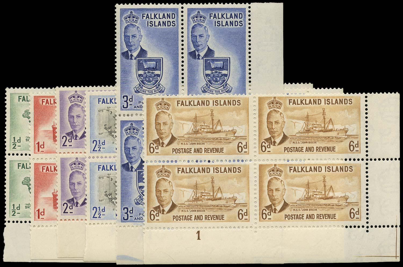 FALKLAND ISLANDS 1952  SG172/8 Mint