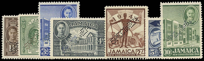 JAMAICA 1945  SG134s/40s Specimen