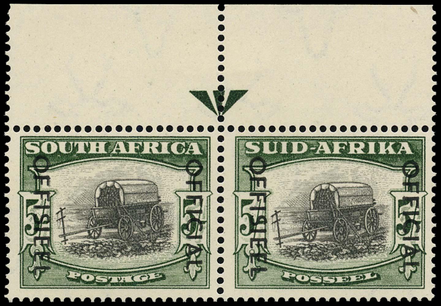 SOUTH AFRICA 1954  SGO50a Official