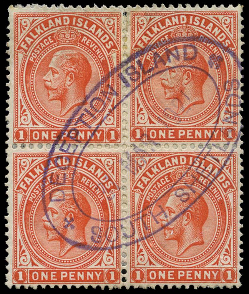 FALKLAND ISLAND DEPS 1912  SGZ111 Cancel