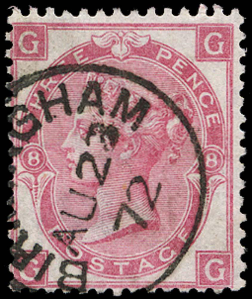 GB 1872  SG103 Pl.8 Used